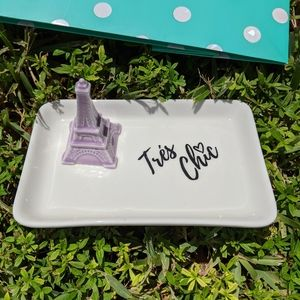 Lavender Eiffel Tower Trinket Ceramic Organizer